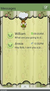FlowerAngel/GO SMS THEME - screenshot