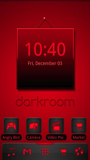 ADW Theme Darkroom Red
