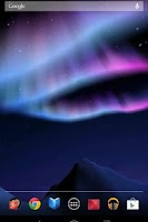 Screenshot of Aurora 3D free Live Wallpaper