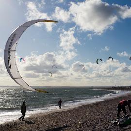 Moon Kite by Stuart Byles - Sports & Fitness Watersports ( water, attempt, hayling, 2014, waves, kite, kitesurfing, sports, sea, beach, island, record, surfing, virgin, surf, world,  )