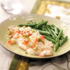 Veggie-Topped Tilapia Recipe