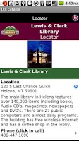 Screenshot of Lewis & Clark Library Catalog