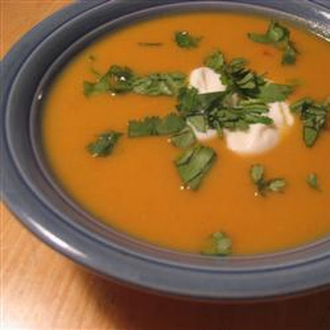 Nutty and Spicy Sweet Potato Soup