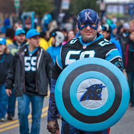 Captain K by Carol Plummer - News & Events Sports ( football, carolina panthers, costume, people, man )
