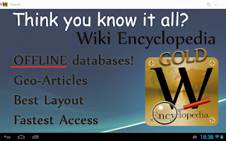 Screenshot of Wiki Encyclopedia Gold