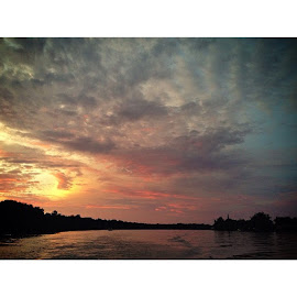 African skies by Michael Leitao - Instagram & Mobile iPhone ( water, nature, sunset, south africa, landscapes, rivers )