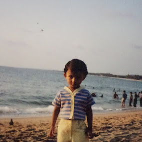 Walk Alone by Kamal Nuhiwal - Babies & Children Toddlers ( child, gazaal, sea beach, kovalam beach, baby )