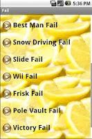 Screenshot of Fail