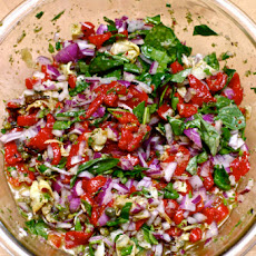 Roasted Capsicum and Artichoke Salad