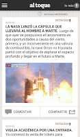 Screenshot of Clarin Al Toque