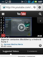 Screenshot of BlackBerry Contacts to Android