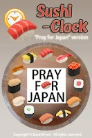 Screenshot of Pray for Japan Sushi Clock