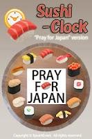 Screenshot of Pray for Japan Sushi Clock