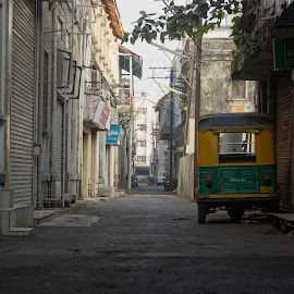 off street by Nirav Raval - City,  Street & Park  Street Scenes ( street, abandon street, city street, abandoned, city )
