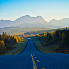 Highway to Paradise. by Sylvie Berube Tenniscoe - Landscapes Mountains & Hills ( mountains, majestic, colors, beautiful, landscape, fall, color, colorful, nature )