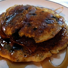 Blueberry Cornmeal Pancakes (Eat Live Travel Write)