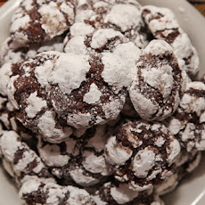 Black Forest Chocolate Crinkle Cookies (gluten free)