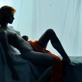 Relaxing Kittie by Vineet Johri - Nudes & Boudoir Artistic Nude ( red hairs, art nude, silhouette, vkumar photography, kittie )