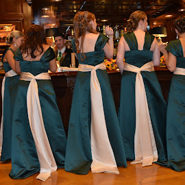 Brides Maids At the Bar by Lorraine D.  Heaney - Wedding Reception