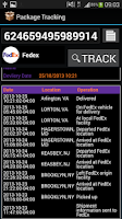Screenshot of International Parcel Tracker