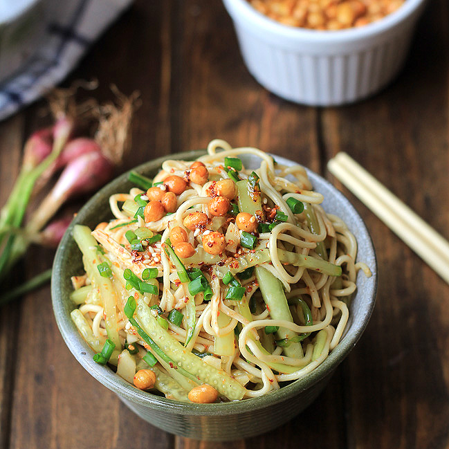 chicken noodle salad sichuan style from china sichuan food added by ...