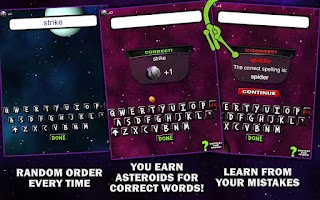 Screenshot of Spelling Space - 5th Grade