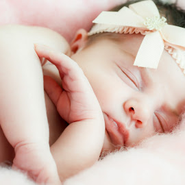 Simplicity by Jennifer Brooke - Babies & Children Babies ( pink, cute, pretty, photography, newborn )