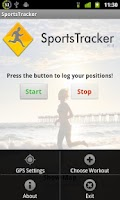 Screenshot of Sports Tracker