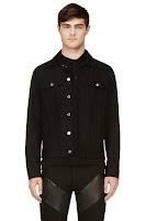 Givenchy Black Covered Stars Denim Jacket