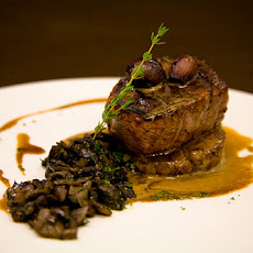 Grilled Tenderloin with Sautéed Mushrooms