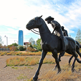 Centennial Memorial In Oklahoma City by Kathy Suttles - Buildings & Architecture Statues & Monuments