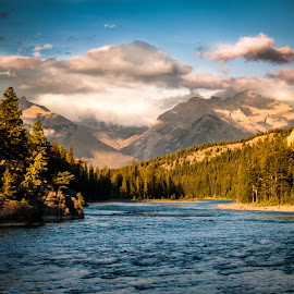 Flowing River by Sheldon Anderson - Landscapes Mountains & Hills ( canada )