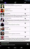 Screenshot of Facebook Statuses Friends Feed
