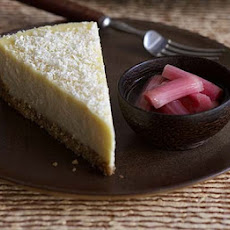 White Chocolate Cheesecake With Rhubarb Compote