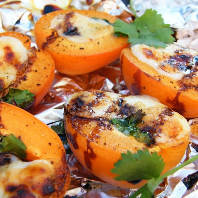 BBQ Apricots with Goats Cheese