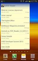 Screenshot of ezPDF Reader Widgets