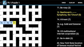 Screenshot of Crossword
