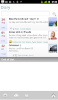 Screenshot of MyLifebook Diary Free