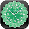 CUTE ALARM WORLD Qlock Verde icon