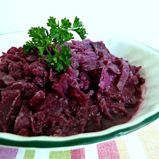 Sweet and Sour Red Cabbage (German Style) Adapted from Cooks.com