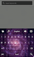 Screenshot of Super Galaxy Keyboard