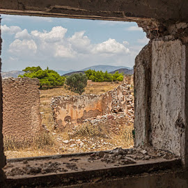 view from ruin by Vibeke Friis - Buildings & Architecture Decaying & Abandoned ( window, ruins,  )