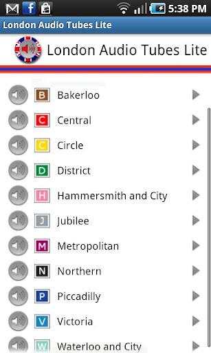 倫敦地鐵音頻Lite