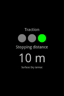 Stopping distance - screenshot