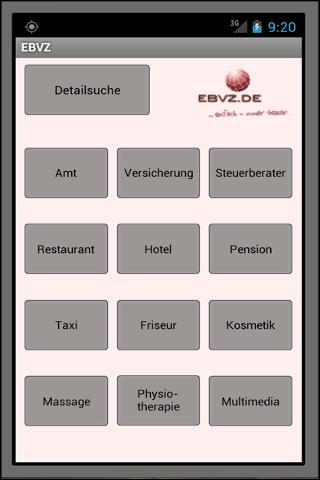 EBVZ das Branchenverzeichnis
