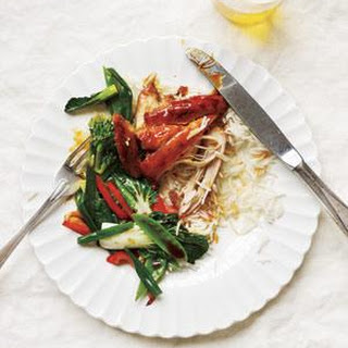 Slow-Cooker Soy-Glazed Chicken With Stir-Fried Vegetables