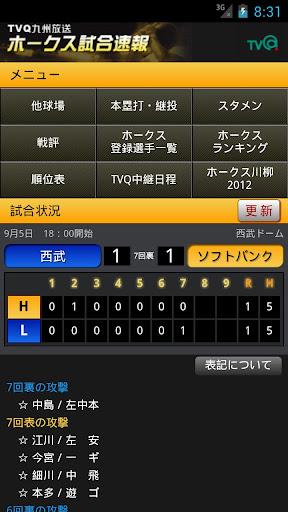 TVQ ホークス試合速報
