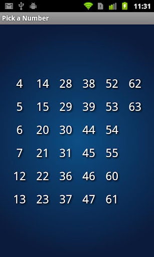 Pick a number magic