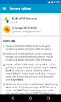 Screenshot of Kode ATM Bersama