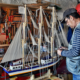 The artisan by Antonio Amen - People Professional People ( ship, craftsman, artisan, boats, boat, sailboat )